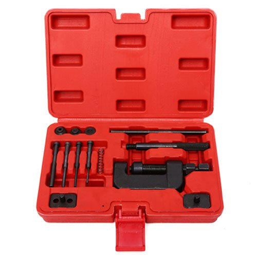 SUNROAD Chain Cutter Breaker Riveting Rivet Tool Kit W/Case for Motorcycle ATV OHV Cam Drive