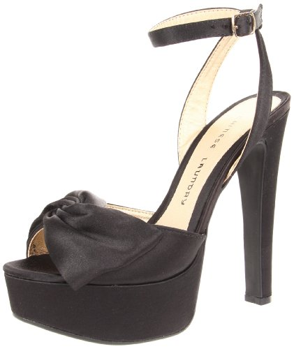 Chinese Laundry Womens Forget You Platform Pump Black Satin