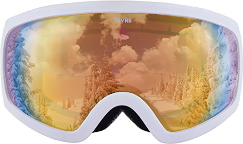 Snowmobile Ski - Traverse Varia Ski, Snowboard, and Snowmobile Goggles, Snowcap with Citrine Revo Gold Lens