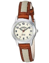 Timex Expedition Metal Field - Mini reloj para mujer, Expedición, Marrón/Natural