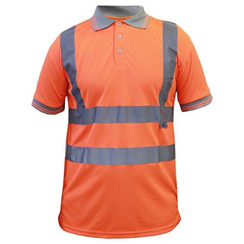 Tshirt Haute ® Shortsleeve Pro Nonzip Éclair Visibilité Fermeture Capuche Orange À tect Sweat RSppqwO