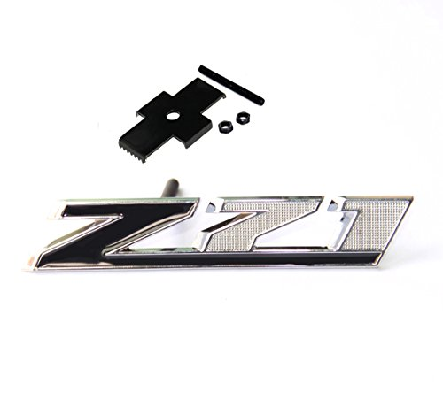 Yoaoo®1x OEM Black Grille Z71 Emblem Badge 3D for Gm Chevrolet Silverado 2500hd 3500hd Sierra Tahoe Chrome