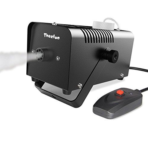 [Automatic Fog Machine - Theefun TFM01 400-Watt  Portable Fog Machine Halloween and Party Fog Machine with Wired Remote Control - Impressive] (Small Fog Machines)