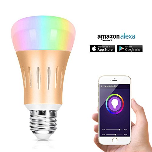 Wi-Fi Smart Light Bulb,Multicolored LED Bulbs Smartphone Controlled Daylight & Night Light Compatible with Alexa Echo by Stillcool.