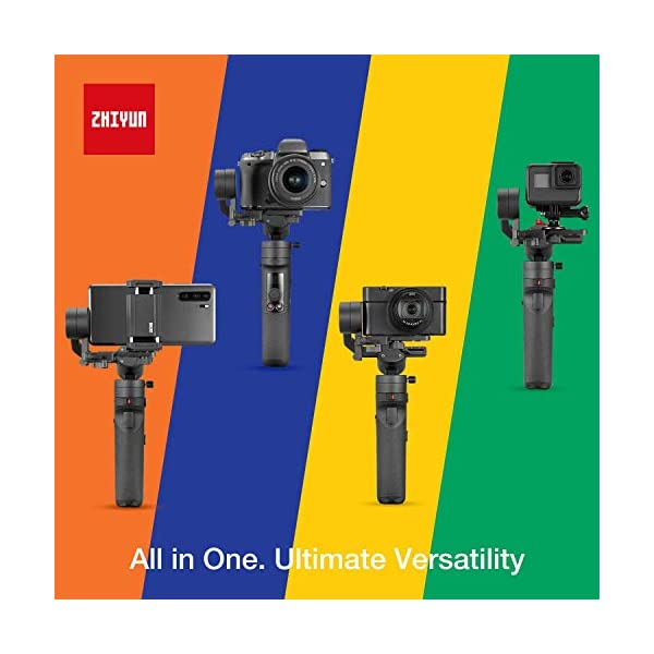 Zhiyun Crane-M2 (Crane M Upgraded Version) Handheld 3-Axis Gimbal Stabilizer Compatible with Smartphone iPhone Android, Gopro 7 6 5, DC Mirrorless Camera, 130g - 720g Payload 2 spesavip