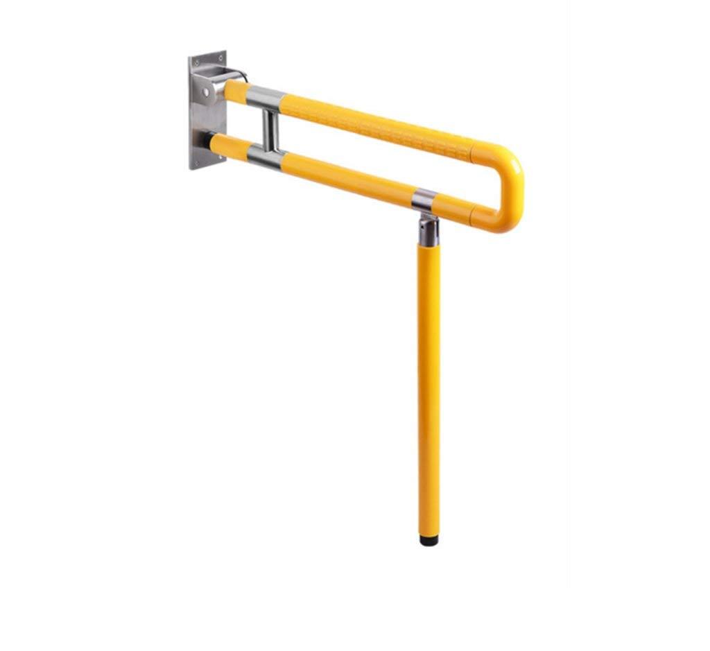 Anti-Rutsch-Barrierefrei Faltbarer Sicherheitsgriff für ältere Menschen Behindertengerechtes Bad WC WC WC-Griff (Farbe  Gelb, Größe  750 MM-A) Gelb 600MM-B