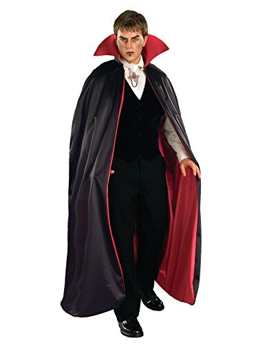 Forum Reversible Phantom Costume Cape 56-Inches, Black/Red, One -