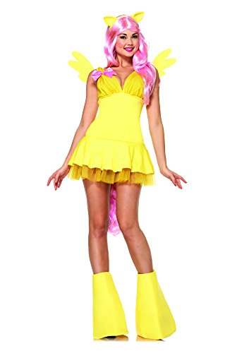 Leg Avenue Women's My Little Pony Friendship Is Magic 6 Piece Fluttershy Costume, Yellow, Medium (6 Piece Costume)