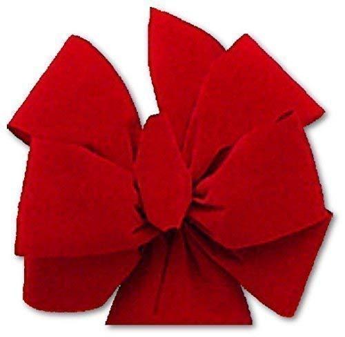16 christmas bows 625 ea free shipping red velvet christmas bows 85w - Red Christmas Bows