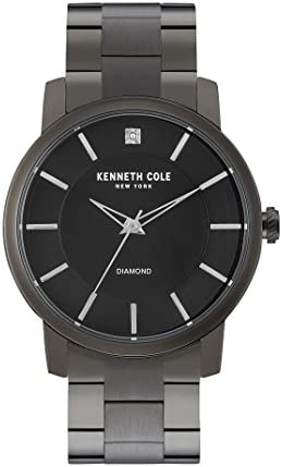 "Kenneth Cole New York Men's KC9286 ""Rock Out"" Stainless Steel  Diamond-Accented Watch: Buy Online at Best Price in UAE - Amazon.ae"