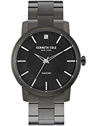 Kenneth Cole New York Mens KC9286 Rock Out Stainless Steel Diamond-Accented Watch