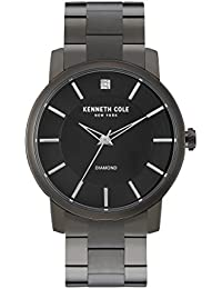 """Men's KC9286 """"Rock Out"""" Stainless Steel Diamond-Accented Watch"""