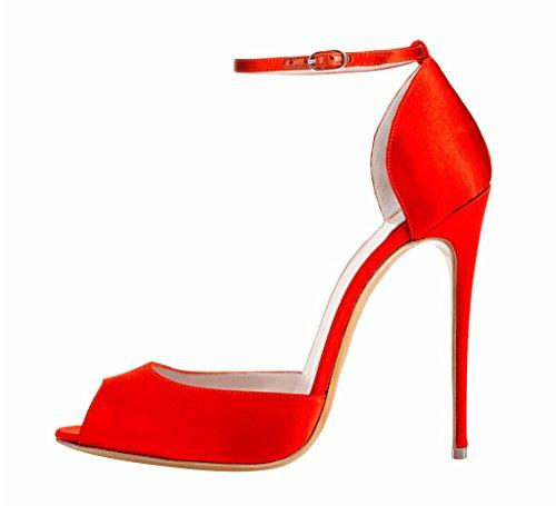 EDEFS - Zapatos con tacón Mujer Rojo