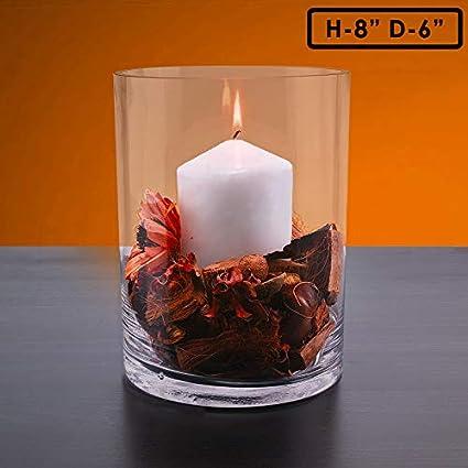 Amazon Cys Excel Hand Blown Glass Cylinder Vase Flower Vase