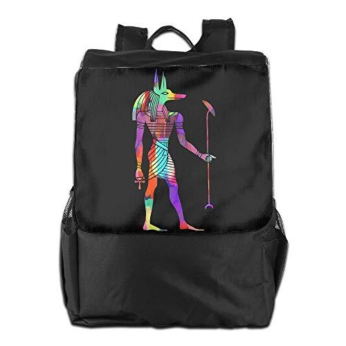 Louise Morrison Egyptian God Anubis Women Men Laptop Casual Business Travel Backpack College School Bookbag