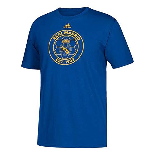 adidas Real Madrid Mens Blue Adi Sport Soccer T-Shirt
