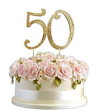 Tremendous Polka Dot Sky Large Gold Rhinestone Crystal Diamante Birthday Cake Funny Birthday Cards Online Alyptdamsfinfo