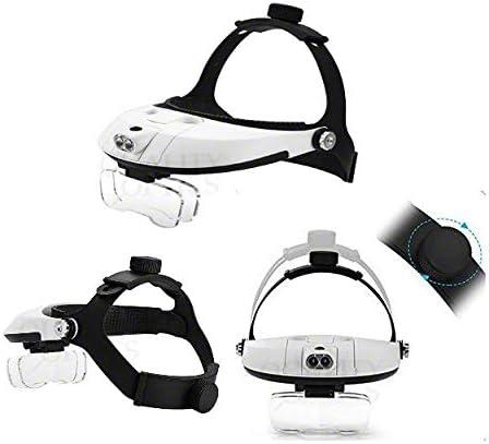 Lab Pro 5 Lens Set Optics LED Illuminated Head Magnifier Collection 1X 1.5X 2X 2.5X 3.5X