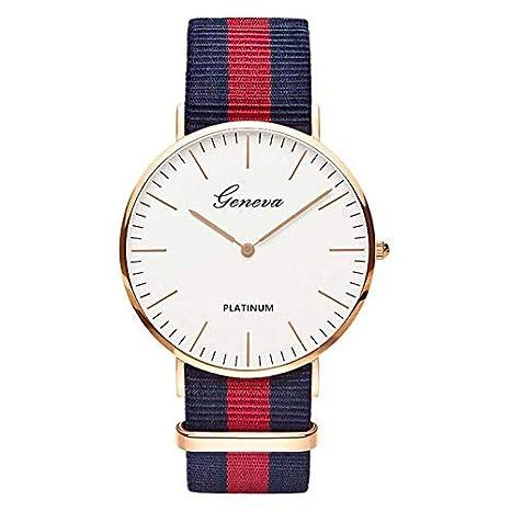 HTRHHG Correa de Nylon Mujer Reloj Top Relojes Moda Casual Reloj de Pulsera de Moda, 1: Amazon.es: Deportes y aire libre