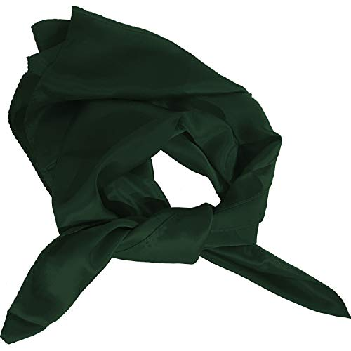 "Solid Color Silk Scarves (30"" x 30"", Hunter Green)"