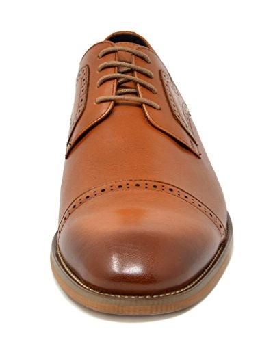 Bruno Marc Mens Valzer Italiano Collezione In Vera Pelle Vestito Oxford Scarpe 1-marrone