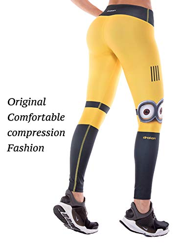 Drakon Many Styles of Crossfit Leggings Women Colombian Yoga Pants Compression Tights (Minion)