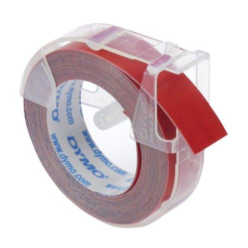 Dymo S0898150 Prägeband für Junior, Omega, 1540, 1577, 9 mm x 3 m, glänzend rot
