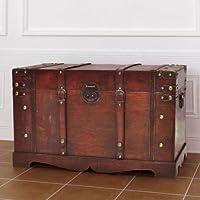 Grande scatola in legno vintage ottomano antico baule di mobili