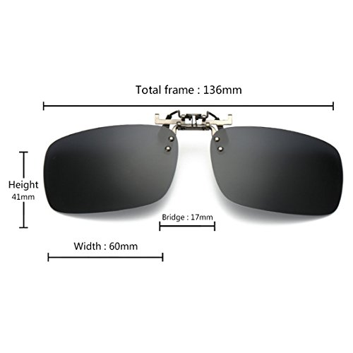 les clip Gris unisexe de lunettes extérieure conduite sur polarisé myopie pour soleil lunettes de Plein Huicai des pêche Hfq1za5w