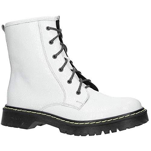Schnürsenkel mit Echtleder Weiß Damen Echtleder Winterschuhe Stiefel Maciejka Boots Modisch Ankle 01609 Warm R0q7nYPw