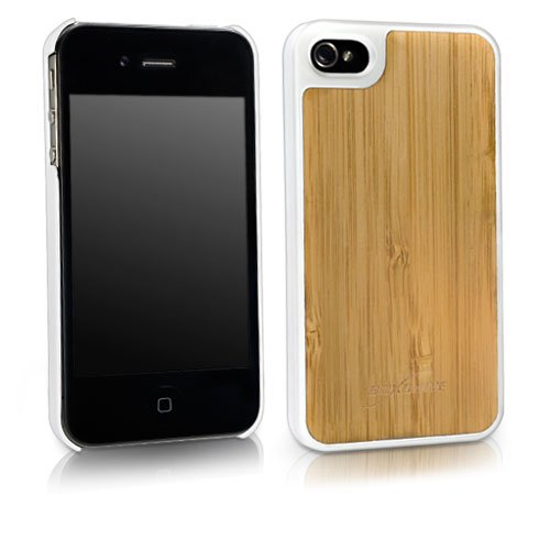 iPhone 4 Case, BoxWave® [True Bamboo Minimus Case] Hand Made, Real Wood Cover for Apple iPhone 4, 4S - Winter White