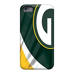 Perfect Hard Phone Cover For Apple Iphone 6 Plus With Customized Beautiful Green Bay Packers Image AshleySimms