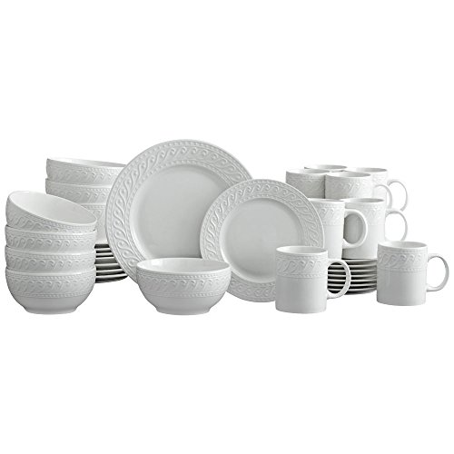 (Pfaltzgraff Sylvia 32 Piece Dinnerware Set, Service for 8, White)