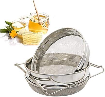 Amazon.com: Nesee - Filtro de miel de doble tamiz de acero ...