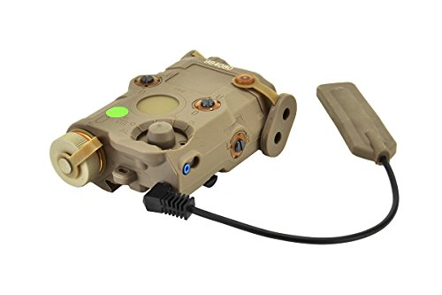 BRAVO-AIRSOFT-PEQ-15-Flashlight-and-Green-Laser-Combo-with-Pressure-Pad-in-FDE