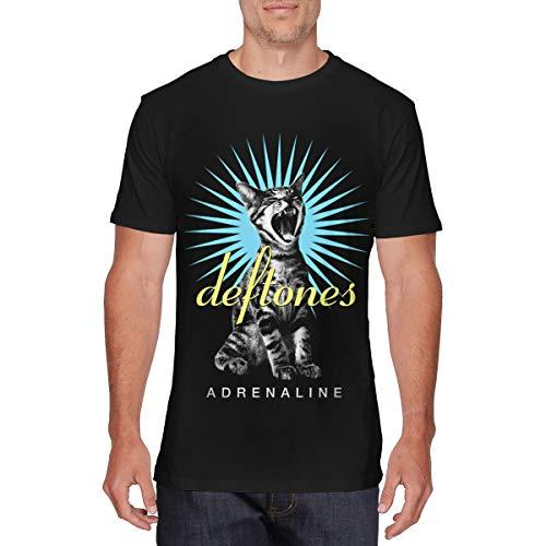 (Guangou Mens Particular Deftones Band Adrenaline Cat T Shirts M Black)