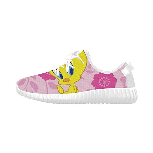 free shipping Angelinan Custom One Tweety Bird Looney Tunes Women's Breatheable Woven Fashion Running Shoes
