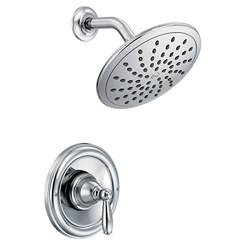 Moen T2252EP Brantford Posi-Temp Shower Trim Kit with 8-Inch Eco-Performance Rainshower, Valve Required, - Traditional Chrome Shower