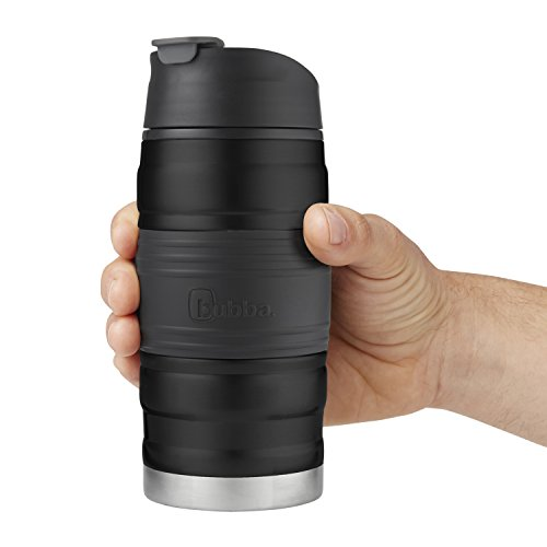 Bubba HERO Fresh Insulated Stainless Steel Travel Mug with Grip, 12 oz, Black by BUBBA BRANDS (Image #3)