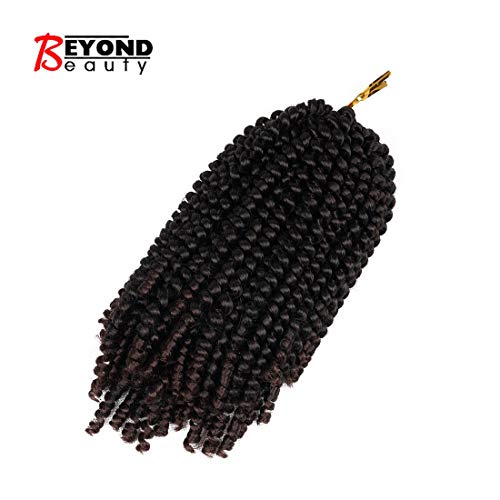 1 piece Spring Twist Crochet Braids Bomb Twist Crochet Hair Ombre Colors Synthetic Fluffy Hair Extension 8inch 110g(T1B 33)