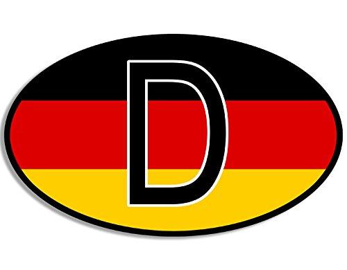 American Vinyl Euro Oval D Deutschland Sticker (German Flag Germany Berlin car Decal) ()