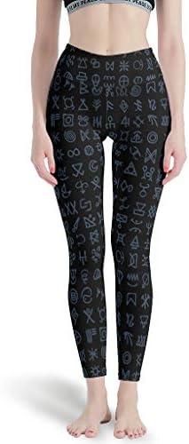 LPLoveYogaShop Frauen Leggings Nordisch Fathurk Blau Grafik Schlank Yoga Gamaschen Trainingsoutfit für Frauen