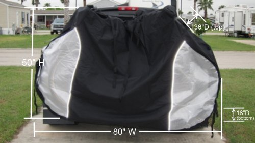 Dual Bike Cover For Transport On Rack For 2 Bikes On