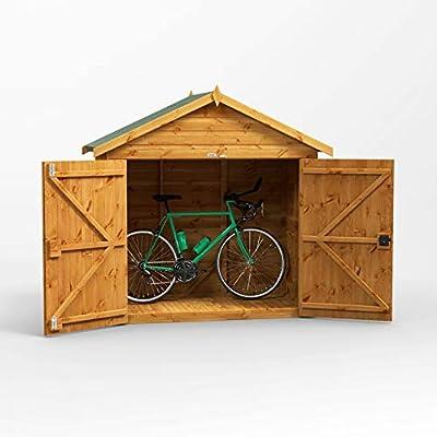 POWER Apex Bike Shed 6x3 Wooden Shiplap