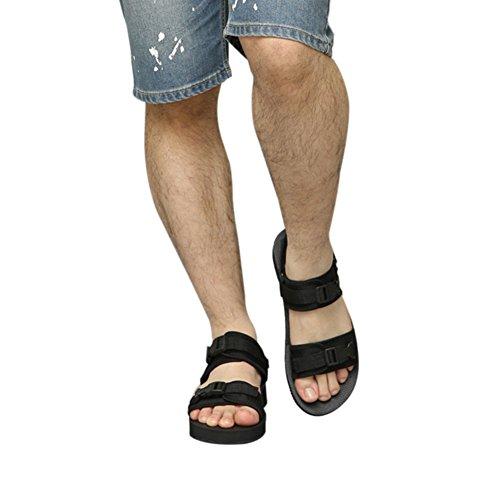 Meijunter Männer Schwarz Atmungsaktiv Strandschuhe Wohnungen Hausschuhe Komfort Cool Sandalen Sport Weich Schwarz