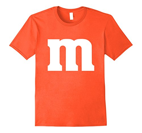 Mens M Candy Easy Halloween Costume DIY Funny Clever Idea T-Shirt Large (Diy Mens Halloween Costumes)