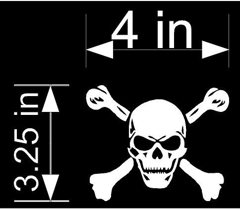 Skull & Crossbones Jolly Roger Decal Sticker