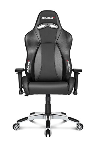 AKRacing Premium Series Luxury Gaming Chair with High Backrest, Recliner, Swivel, Tilt, Rocker and Seat Height Adjustment Mechanisms with 5/10 warranty (Carbon Black)