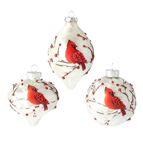 Glass Bird Christmas Ornament - RAZ Imports - 3