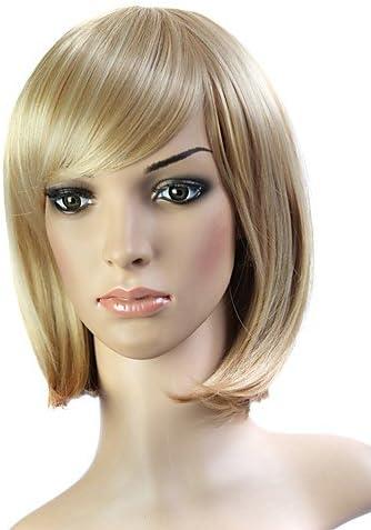 sin tapa corto fibra 100% japonés Kanekalon marrón peluca de pelo ...